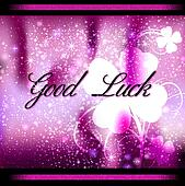 Greeting card Good Luck