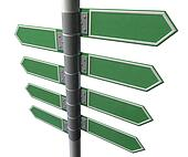 Left Right Blank Direction Sign Collection