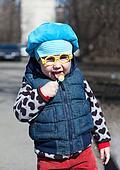 Little child with lollipop