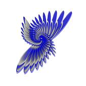 spiral feathers like a wing