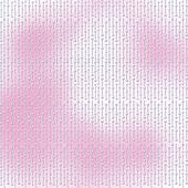 Abstract pink background with white beautiful pearls