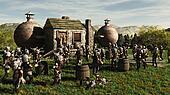 Toon Viking Dwarf Horde at the Brew