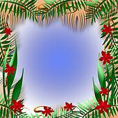 tropical view frame