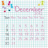 Calendar for December 2012