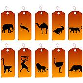 Set of african price tags