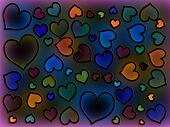 Stained Glass Cool Hearts