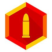 ammunition flat design modern icon