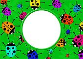 Ladybug Border