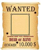 announcement wanted criminal poster illustration