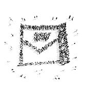 people  shape  letter  cartoon