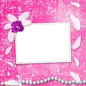 Festive invitation or congratulations for a wedding, christening