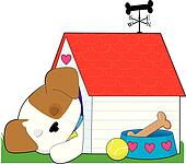 Cute Puppy Dog House