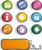 funny color web icons