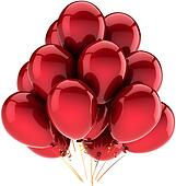 Red balloons party decoration
