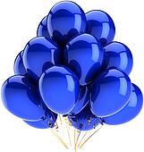 Balloons birthday decoration blue