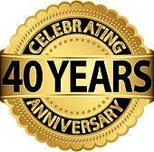 Celebrating 40 years anniversary go