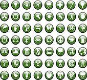 Environmental Green Icons
