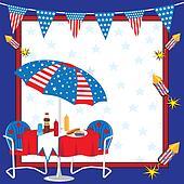 Patriotic Picnic Invitation