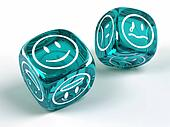 Dice with different emotions on faces
