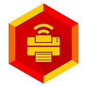 printer flat design modern icon