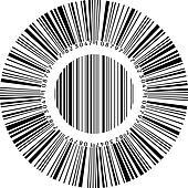 Abstract circular bar code
