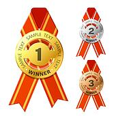 Gold, silver and bronze awards