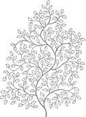 Ornate, elegant curly vines drawing