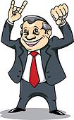 Businessman with muscles