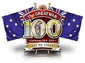 100 Years Flag Aus