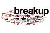 Breakup word cloud