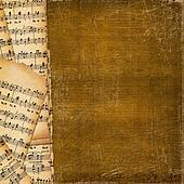 Cover for  music book on the abstract background