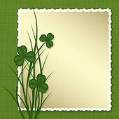 Design for St. Patrick's Day. Frame with leaf clovers.