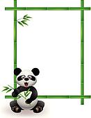 Panda with bamboo tree