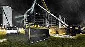Rainfall on construction site