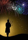 pipers in concert for the New Year