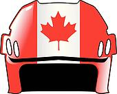helmet in colors of Canada