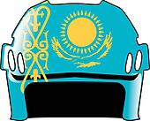 helmet in colors of Kazakhstan