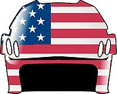 helmet in colors of United States