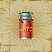 Retro Jam Jar