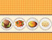 cartoon Chinese food card