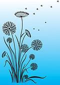 floral postcard.Vector background