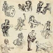Music and Musicians - Hand drawn pack