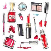 Watercolor Makeup products set