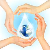 Drop of water with Earth inside