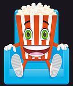 Popcorn mascot