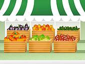 shop of vegetables