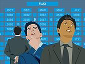 Businessmen at the stock exchange