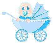 Baby in blue wear