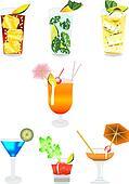 several beverages