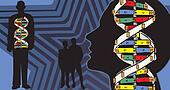 Mapping of genetic bond in human body